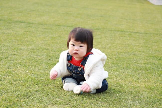 広い芝生エリアは絶好の写真スポット♪ 都内でなかなか綺麗な芝生の公園を見つけるのは難しい!