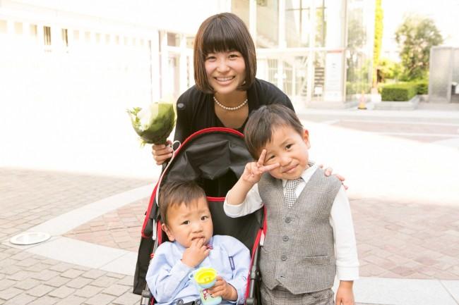 ニコニコ穏やかなママさんは、実は臨月! 第三子も男の子だそうで、ますます賑やかになりそうですね♪