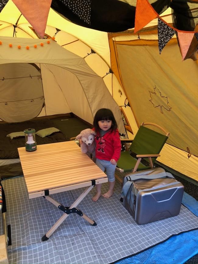 キャンプにも行きました♪
