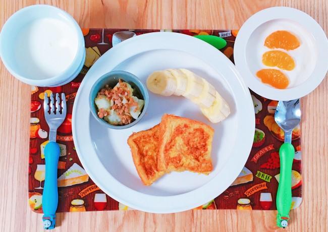 洗い物が少なくて済むワンプレートの朝食