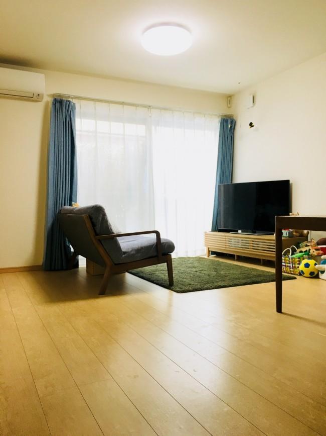 物をなるべく置かないこと! 家族みんなが気持ちの良い部屋作りを心がけています