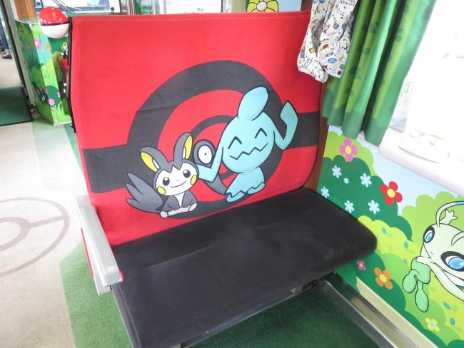 座席はこんな感じ。まさに夢のポケモンの世界!