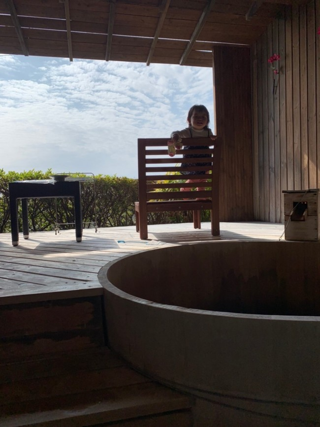 露店風呂付きの大きな和室で、最後の家族4人旅行♪