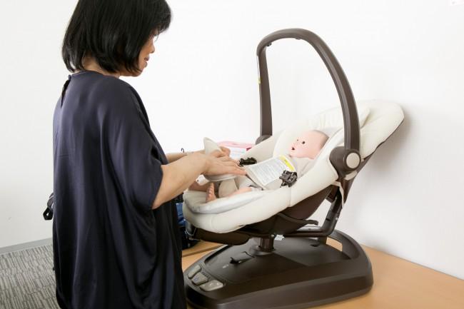 ホールディングパッドに赤ちゃんをくるめば、より落ち着いで過ごすことができる