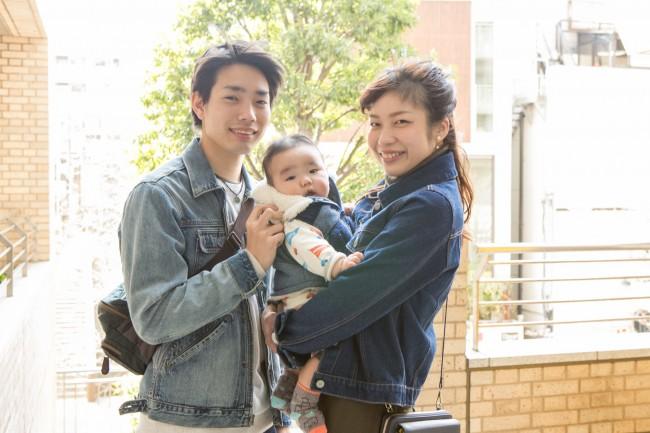 渋木真裕さん&友裕くん(ともひろくん・5ヶ月)パパの裕太さんも、撮影にご協力してくれました!