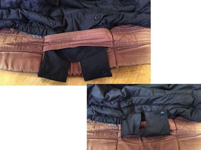 エルゴのルーフベルトに付けると冷気を完全シャットダウン!こちらは昔のタイプですが使用出来ました。裏面を使用する場合はエルゴでも付けることが出来ません