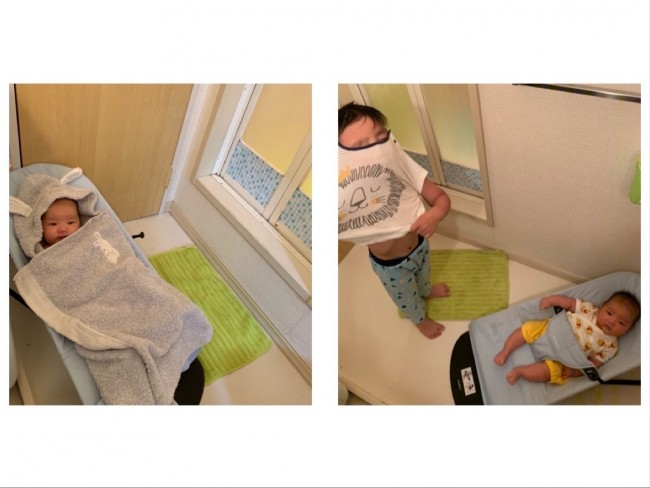 脱衣所で使っているママ多し。赤ちゃんを一時的に置いておきたいシーンで大活躍です