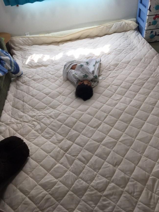 ひろ〜い布団で、わたしの産後1ヶ月もゆっくり過ごすことができました