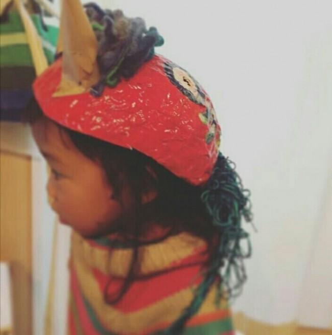 去年、2歳の娘と作った鬼のお面がこちら。今年も親子で作ろうと思います!