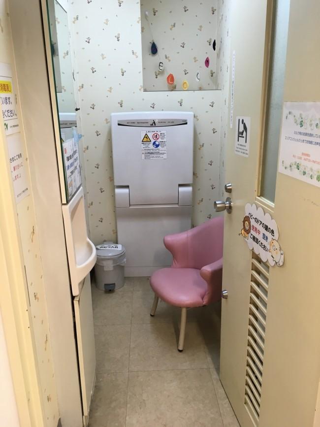 授乳室は1室でベビーカーで入るのは難しいぐらいコンパクトなお部屋