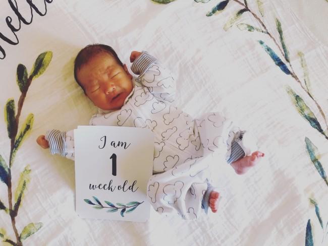 1月末に三男を出産。予定帝王切開で8日間の入院でした♪