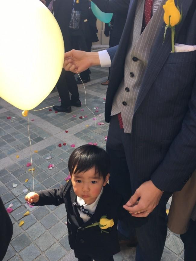 バルーンを飛ばすイベントで、息子は盛大にフライング。参加はまだ早かったかなと思います