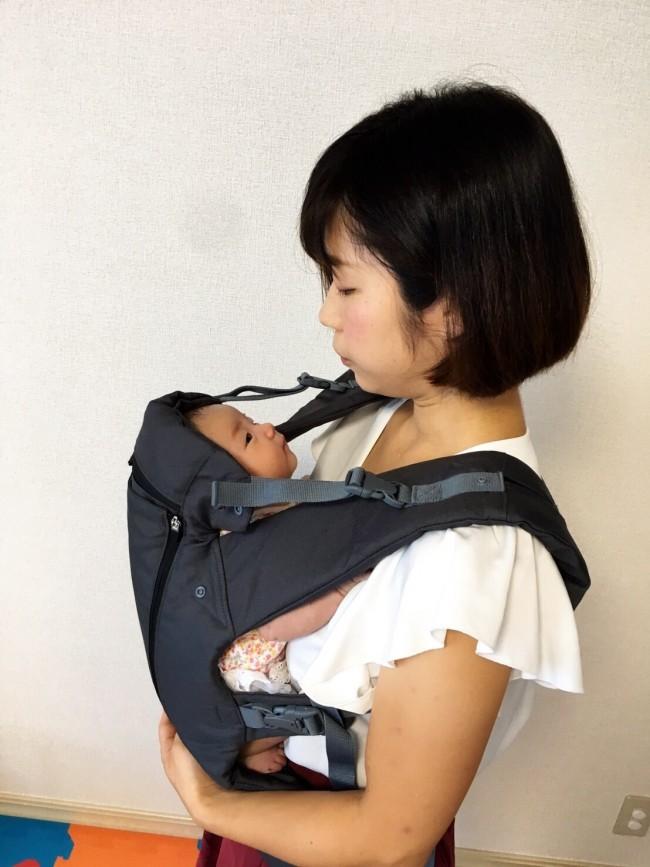 優しく赤ちゃんを包むこむ、安心設計です