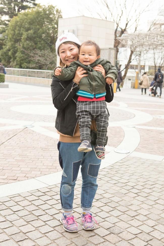 小林優さん、岳乃進くん(1歳5ヶ月)