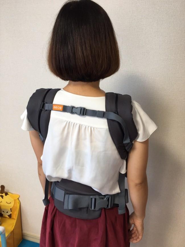 しっかりした腰のサポーターは、取り外し可能の新機能