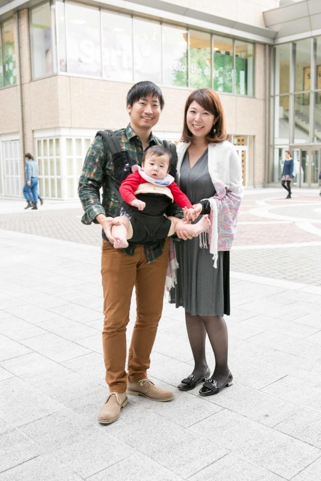 萩原聡さん、柳艾実さん、潤くん(8ヶ月)