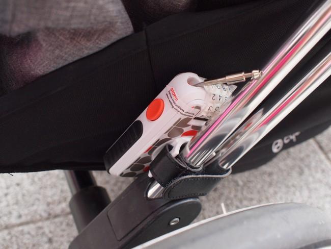 防犯用に鍵もつけていました。ベビーカーを置いておくときも安心ですね
