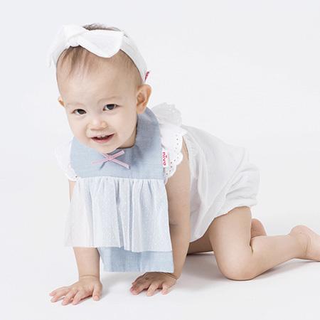 女の子をお誕生を祝うのに最適な、とにかくカワイイnivaのドレスビブ!