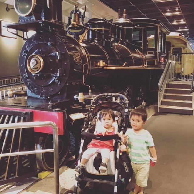 蒸気機関車と記念撮影♡