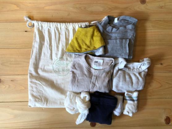 着替えは最低限で。これから薄着の季節になるので荷物がさらに減りそうで助かります