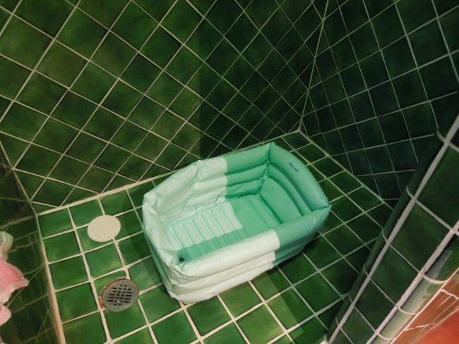 メキシコのお風呂は、こんなに綺麗なタイル貼り!