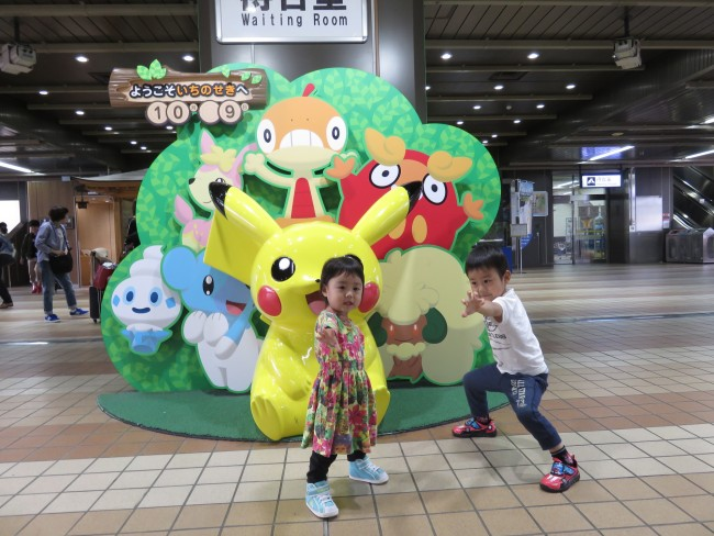 """一ノ関駅に到着! 子供も楽しく、大人も美味しい""""ポケモン列車旅""""でした!"""