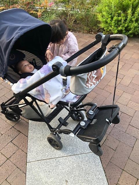 赤ちゃんが生まれてベビーカーを譲ることになる上の子にとっても、嬉しい贈り物になりました