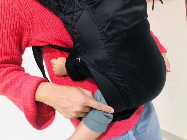 赤ちゃんの足があたる部分は、ふんわりとクッションが。触れ心地が良さそうです