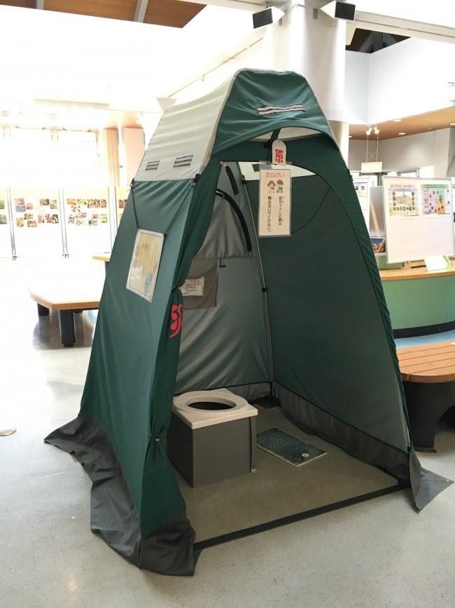 蓋の上に、テントを張って使用するそう