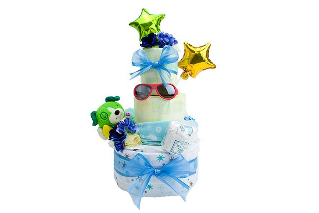 出産祝いの定番になってきた、おむつケーキもかわいいですね♡