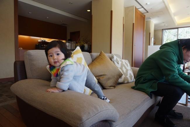 客室や浴室だけでなく、ロビーも子連れで安心。ファミリー向けのお宿なので、みなさん楽しそうでした