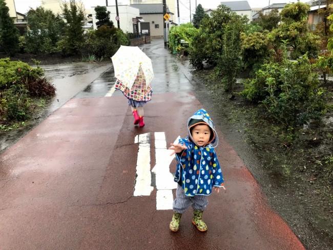 雨の日のおでかけは、ひと仕事です! 頑張って歩こう〜