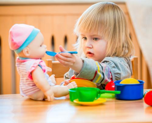 お世話遊びをすることにより、子供たちも成長していきます