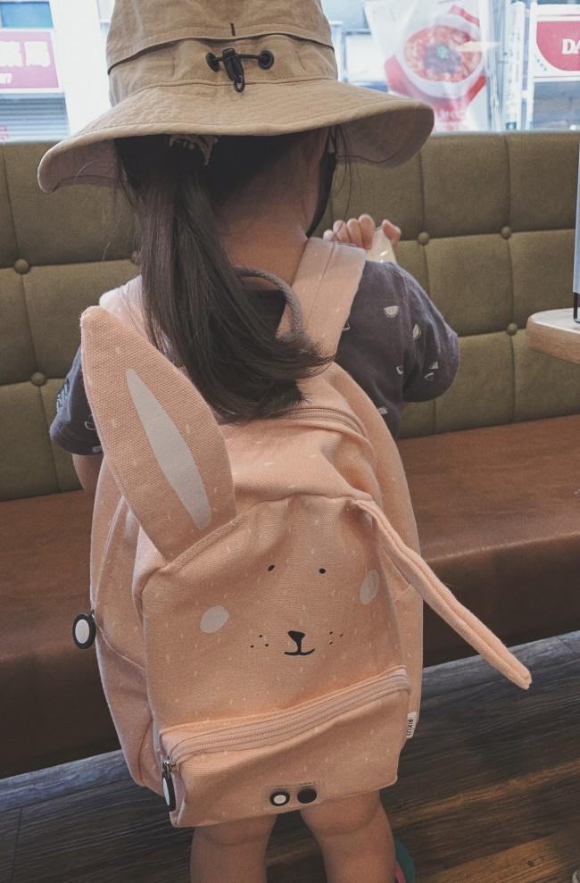 可愛いものが大好きな娘は、「うさぎちゃんのリュック」が大のお気に入りに!