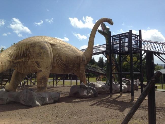 思う存分、恐竜と楽しめます!