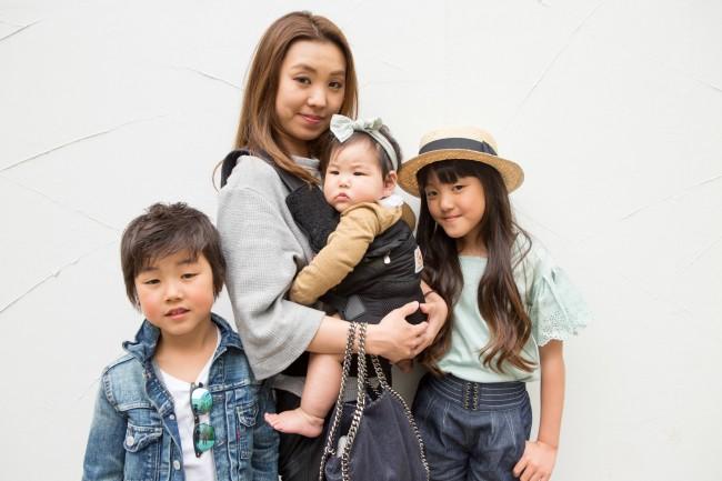 ヤマナカチアキさん、ミユちゃん(10歳)、ライムくん(7歳)、ルイナちゃん(8ヶ月)