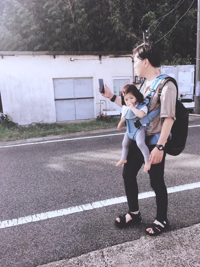 家族でのお出かけの時、パパは必ずビョルンで抱っこをしてくれました♡