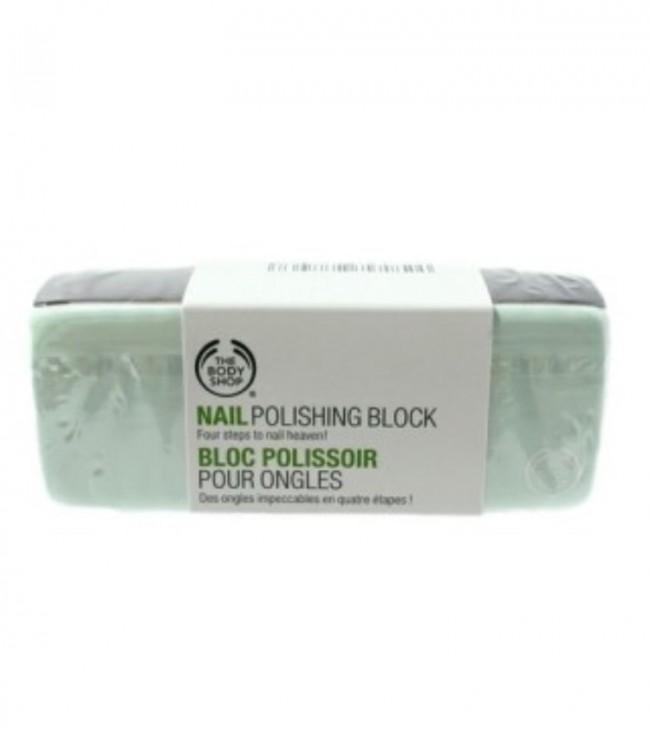 THE BODY SHOPのネイルポリッシュ ブロック。4面のブロックで、1→4まで順番に磨いていくとピッカピカに!