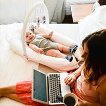 ママの生活スタイルや赤ちゃんの睡眠ペースに合わせて移動可能のマットレス