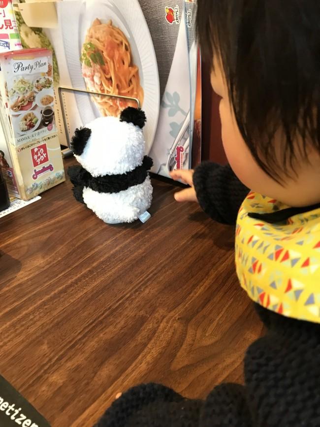 今の息子はパンダがお気に入り。もう少し大きくなったら絵本や塗り絵なども持って行ってみようかなと思います♪