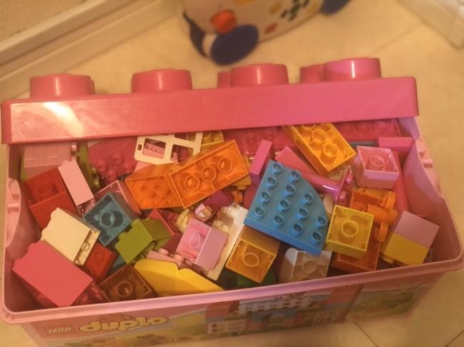 2歳だった去年は、女子カラーのデュプロをプレゼント♪
