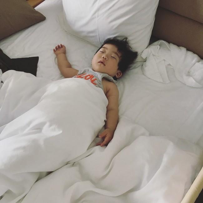 旅先でのお昼寝も必須。息子のお昼寝を予想して、計画を立てたりしました