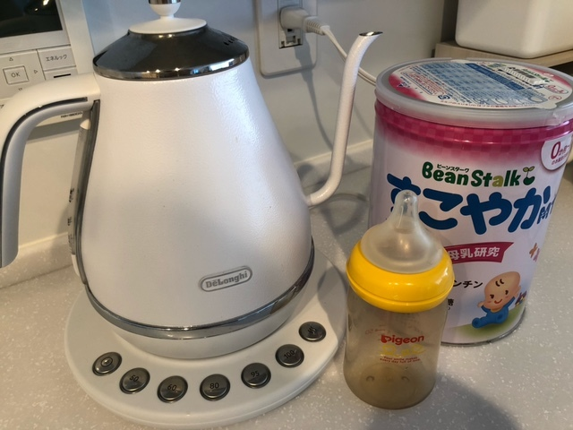 ミルクを卒業しても長く愛用できそうな、温度調整のできるケトル