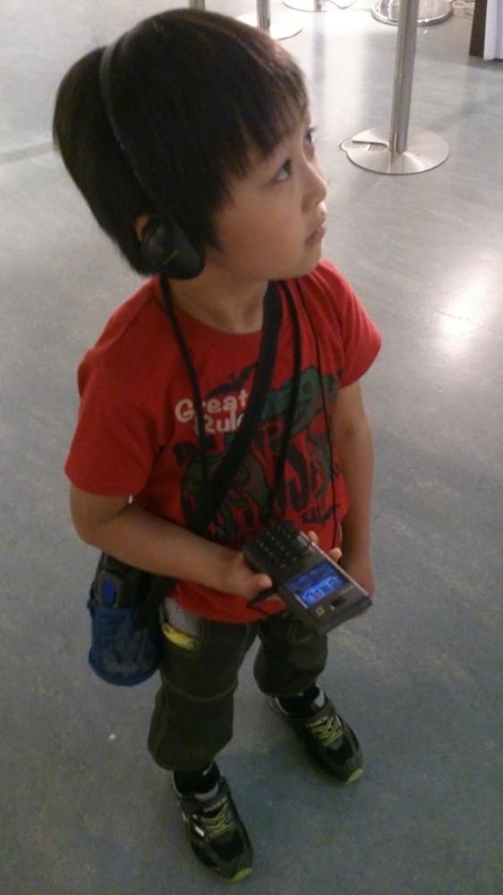 お兄ちゃん一人でじっくり音声ガイドを聞き行っていました