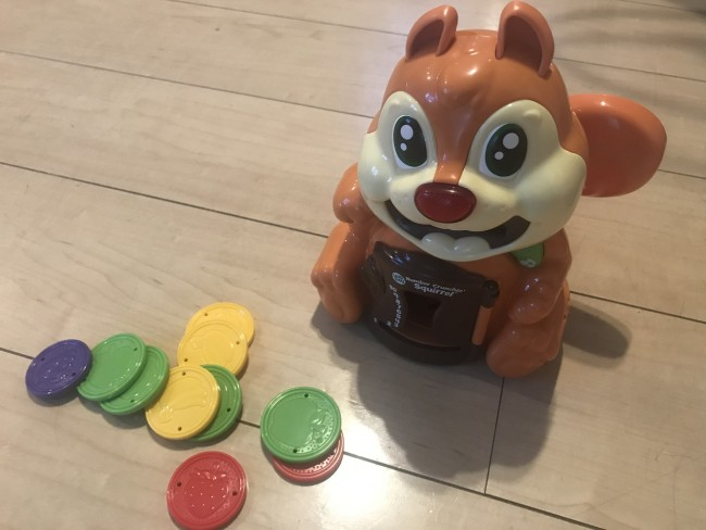 動物好きな息子にピッタリかなと思い購入♪ 可愛いリスのおもちゃです