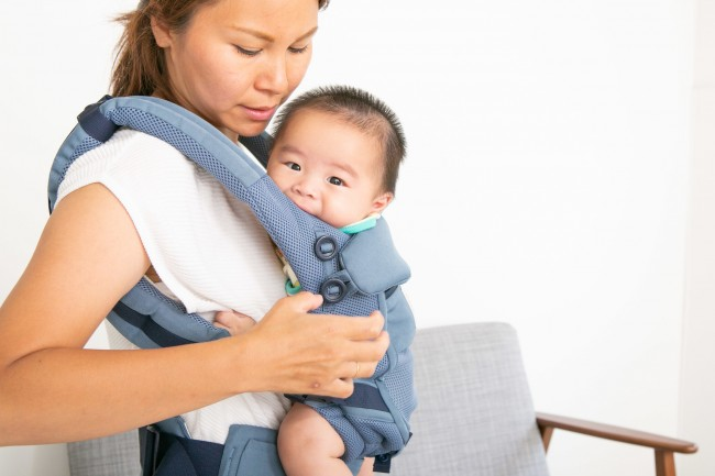 実際に抱っこして横から見ると、肩ぱっとのふんわり感が際立ちます