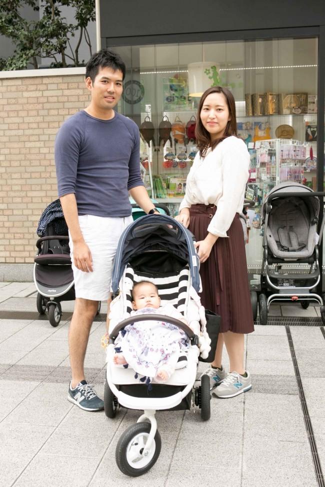 栗山健一郎さん、恵さん、心陽ちゃん