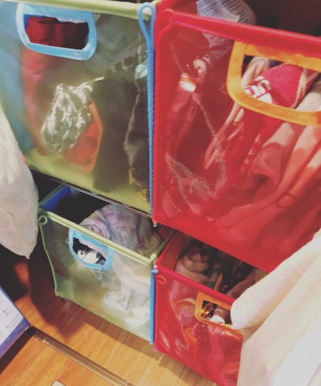 我が家は兄姉ともに、軽くて引き出しやすく、カラフルで可愛いイケアのボックスを愛用中