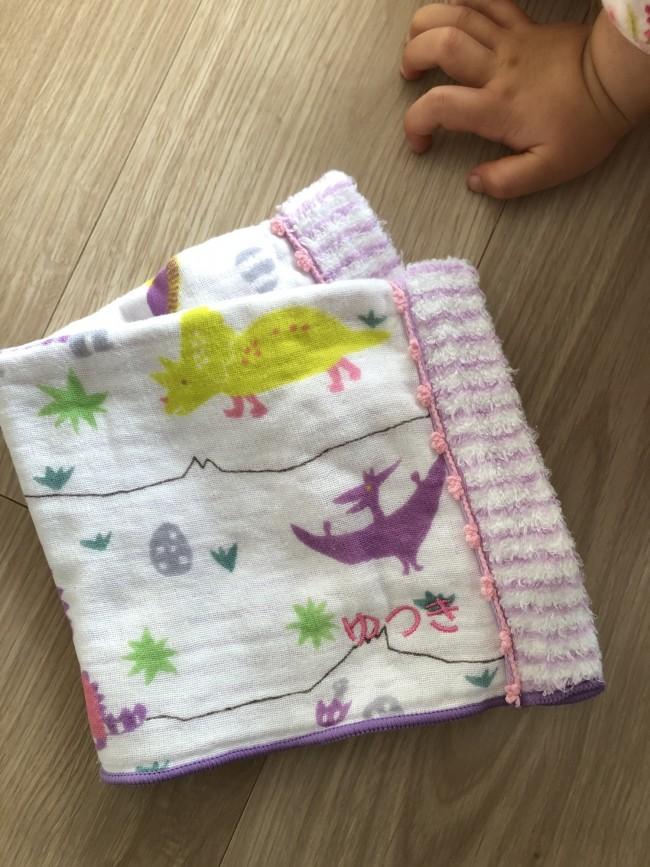 第二子出産のタイミングで、きょうだい揃って名入れタオルを贈るのも素敵かも!