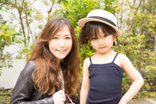 三木さくらさん、るびちゃん(5歳)、えめちゃん(2歳)